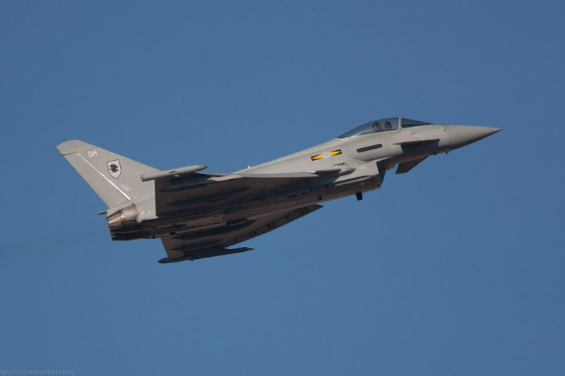 Истребитель Eurofighter Typhoon FGR4, он же EF2000
